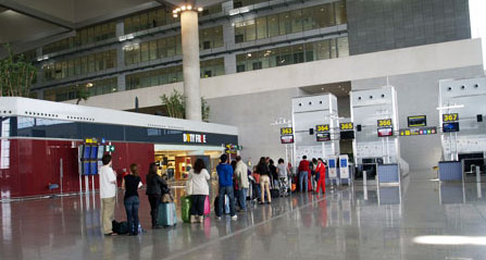 Malaga airport check-in