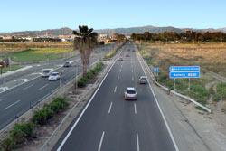 Malaga airport highway