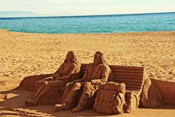 Malaga Beaches Sand Art