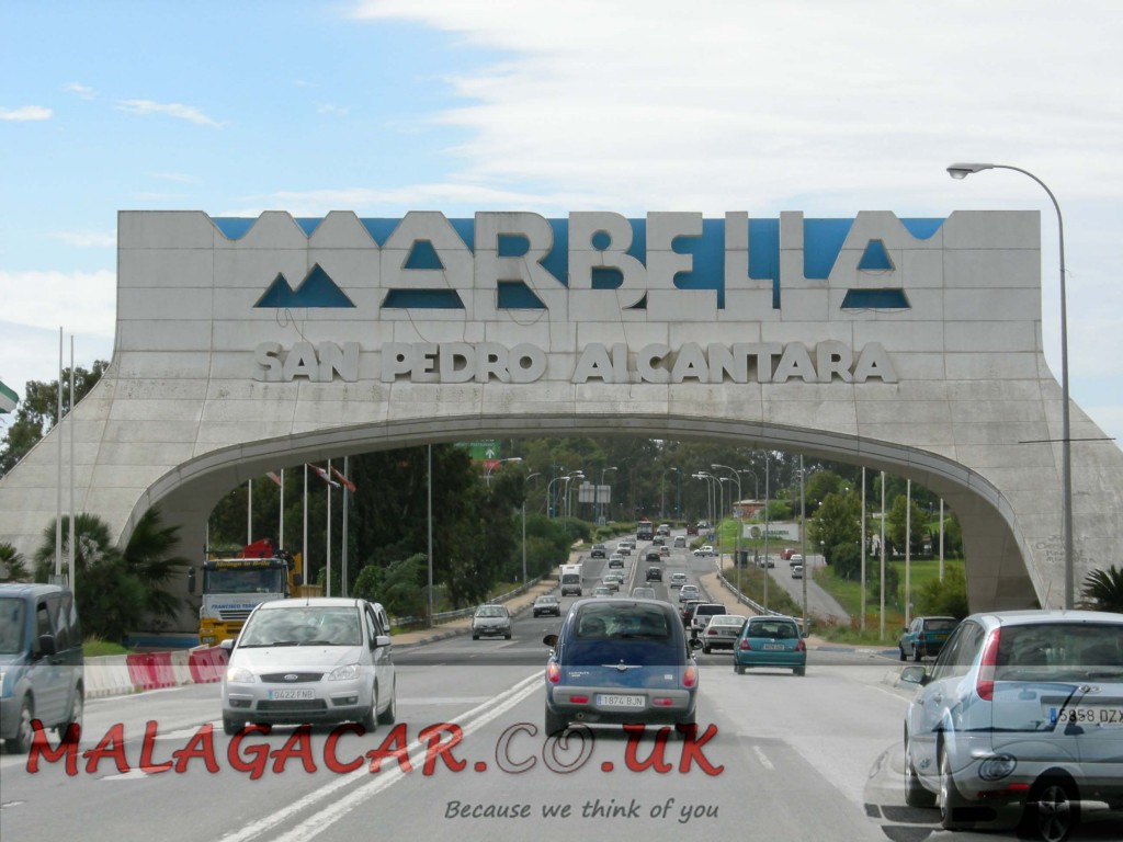 Driving from Malaga to Marbella